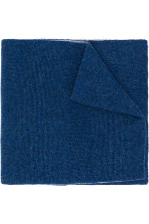 DELL'OGLIO Two-tone cashmere scarf