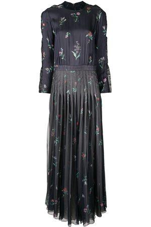 Armani Printed long pleated dress