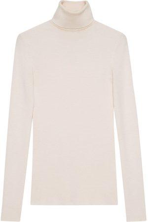 Gucci Dames Sweaters - Maglione a collo alto in lana fine