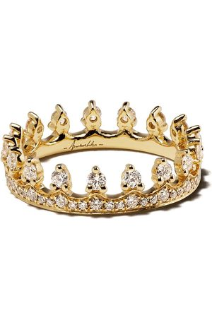 ANNOUSHKA 18kt yellow gold Crown diamond ring