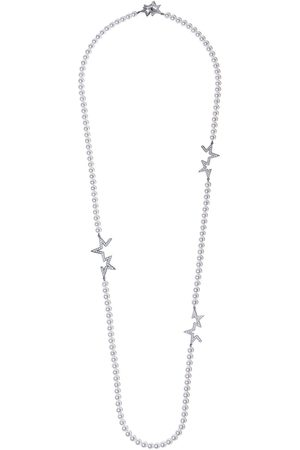 Tasaki 18kt Abstract Star diamond and pearl necklace