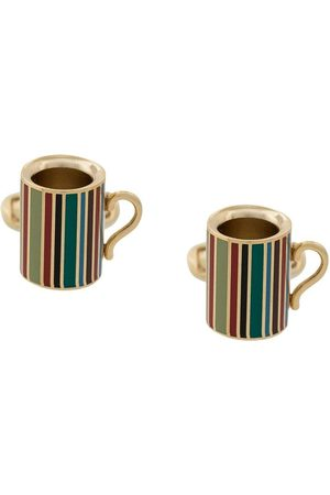 Paul Smith Signature stripe mug cufflinks