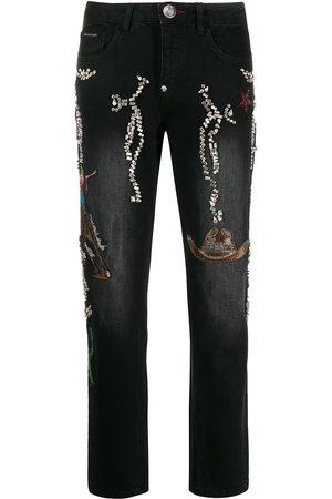 Philipp Plein Cowboy boyfriend-fit jeans