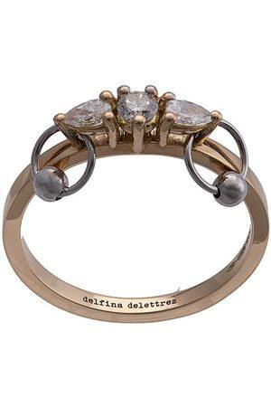 DELFINA DELETTREZ 18kt yellow Two-in-one diamond ring