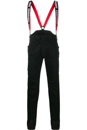 Dsquared2 Logo suspenders ski trousers