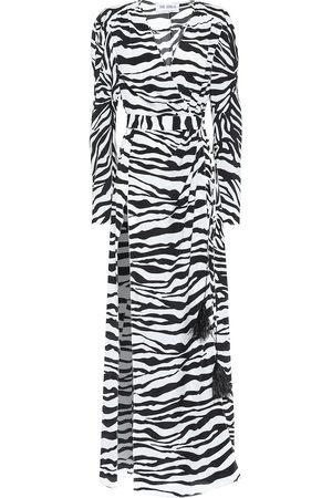 The Attico Lauren zebra-print maxi dress
