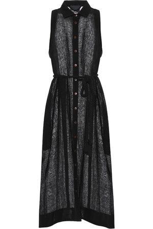 Lisa Marie Fernandez Linen-blend gauze midi dress
