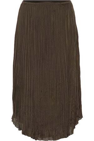 Vince Pleated-crêpe skirt