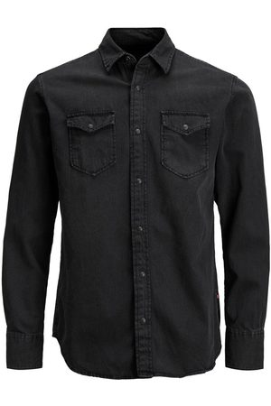 Jack & Jones Heren Lange mouwen - Must Have Overhemd Heren Zwart