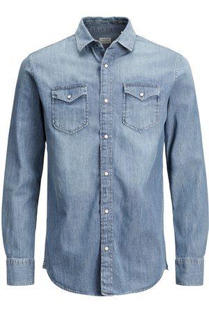 Jack & Jones Heren Lange mouwen - Must Have Overhemd Heren Blauw