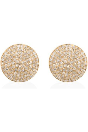 Shay 18kt round pave diamond stud earrings
