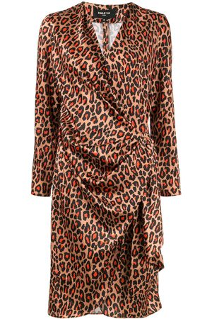 Paule Ka Leopard print wrap dress