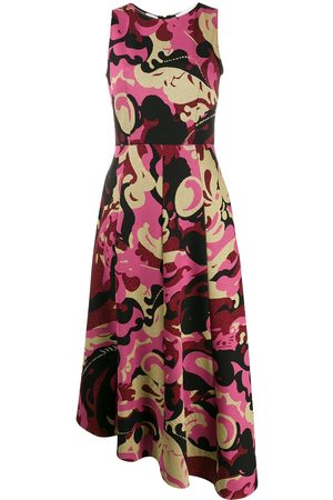 La DoubleJ Abstract print sleeveless midi dress
