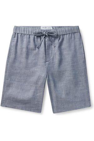 Frescobol Carioca Felipe Slim-Fit Linen and Cotton-Blend Drawstring Shorts