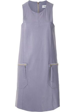 Olympiah Sleeveless panelled mini dress