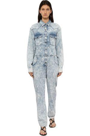 Isabel Marant Idesia Bleached Cotton Denim Jumpsuit