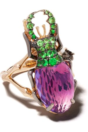ANNOUSHKA 18kt rose gold Mythology amethyst beetle ring