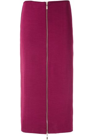 Olympiah Front zip straight skirt