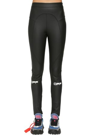 OFF-WHITE Logo Active Long Techno Leggings