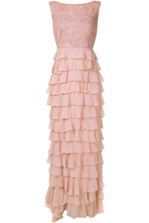 Martha Medeiros Leonora lace panelled gown