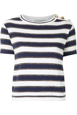 MARTHA MEDEIROS Crystal embellished knit T-shirt