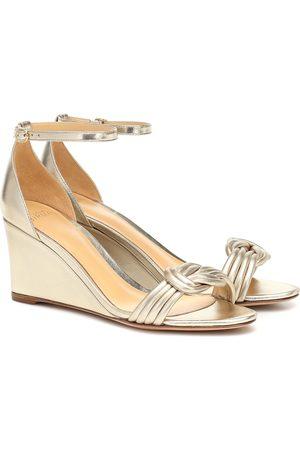 ALEXANDRE BIRMAN Dames Sandalen - Vicky 75 metallic leather sandals