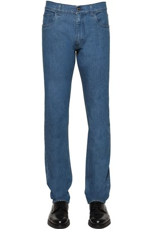 Prada Heren Tapered - 19cm Tapered Cotton Denim Jeans