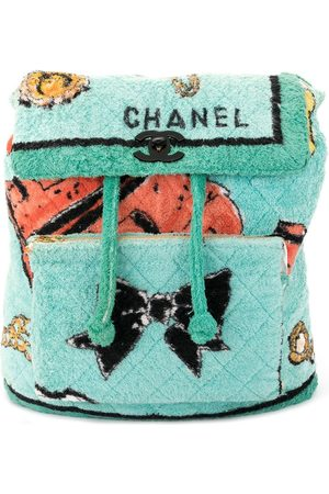 CHANEL 1994 textured diamond quilted backpack