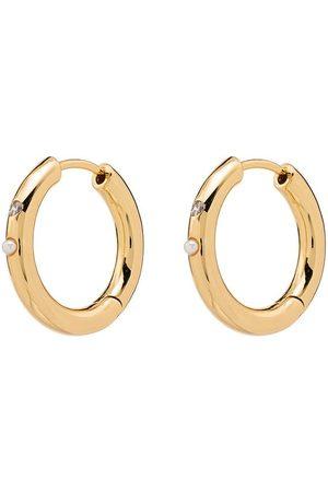 Anni Lu Dames Oorbellen - 18kt -plated Brigitte pearl hoop earrings