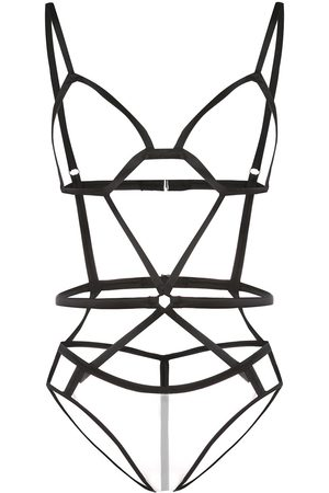 FLEUR DU MAL Bondage strap bodysuit