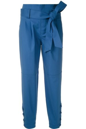 MARTHA MEDEIROS Pleated tie waist trousers