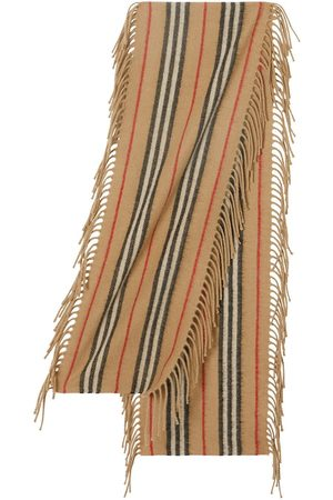Burberry Fringed Icon stripe scarf