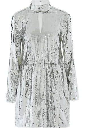 tibi Avril sequined cotton-twill dress