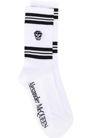 Alexander McQueen Heren Sokken & kousen - Ribbed skull print ankle socks