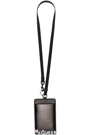 Alexander McQueen Logo print leather smartphone case