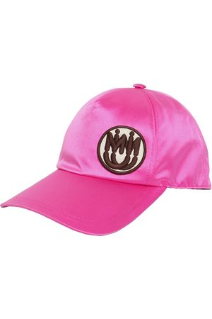 Miu Miu Satin Baseball Hat W/ Logo Patch