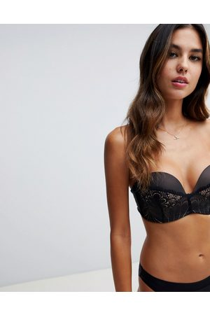 Wonderbra Refined glamour ultimate strapless lace bra a - g cup-Black
