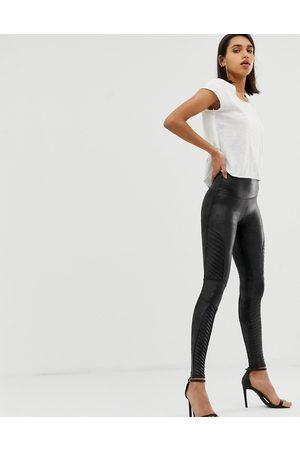 Spanx Faux leather moto leggings-Black