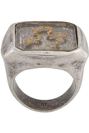 Goossens Snake signet ring