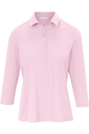Efixelle Poloshirt 100% katoen 3/4-mouwen Van lichtroze