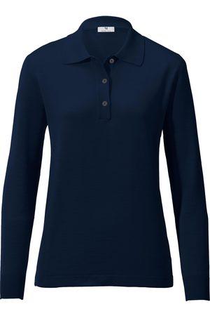 Peter Hahn Dames Poloshirts - Polotrui van 100% scheerwol, model Isolde