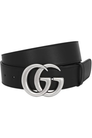 Gucci Heren Riemen - 40mm Gg Buckle Smooth Leather Belt
