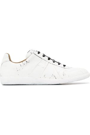 Maison Margiela Cracked paint-effect low-top sneakers