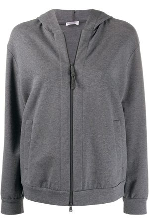 Brunello Cucinelli Relaxed-fit zip-up hoodie