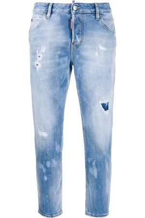 Dsquared2 Holes Hockney straight jeans