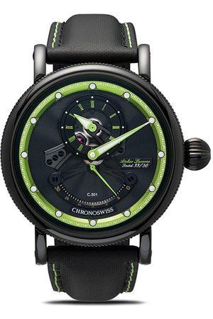 Chronoswiss Chronograph leather strap watch