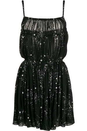 Saint Laurent Glitter splatter dress