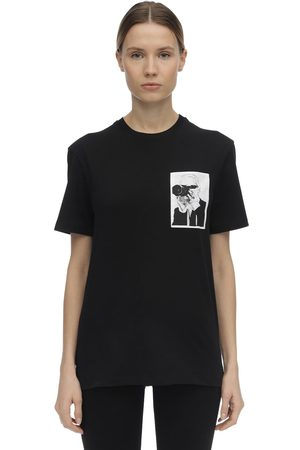 Karl Lagerfeld Dames T-shirts - Printed Cotton Jersey T-shirt
