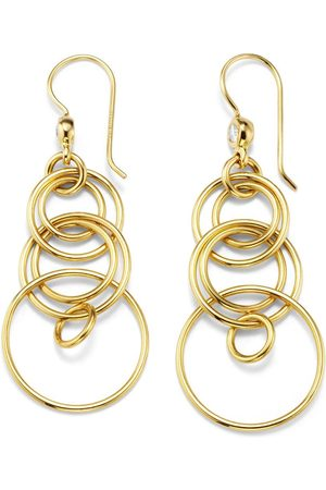 Ippolita 18kt yellow small Classico smooth Jet Set diamond earrings