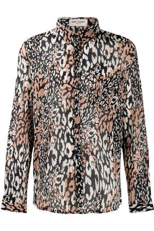 Saint Laurent Leopard print long sleeves shirt